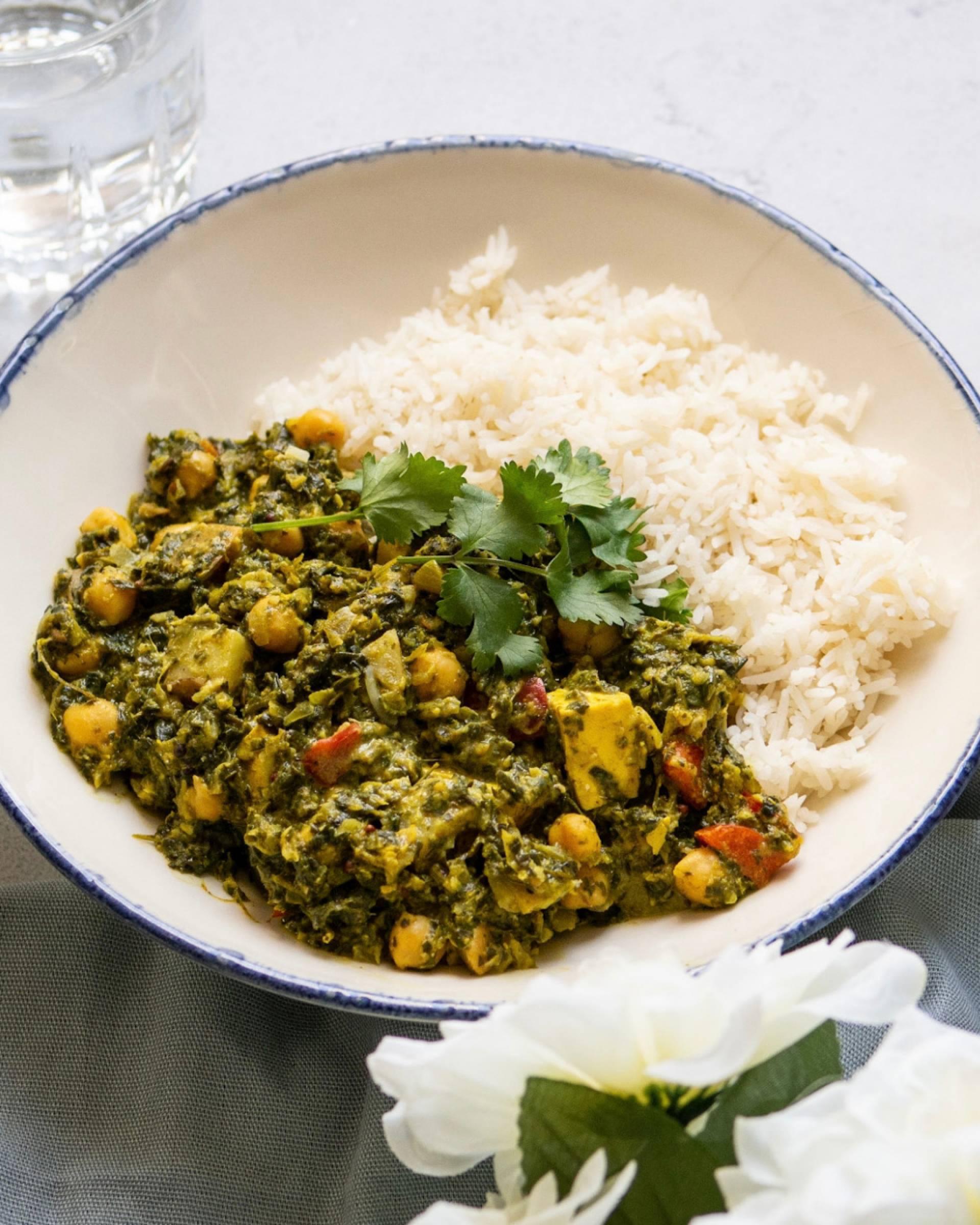 Saag Curry + Tandoori Roast Potato