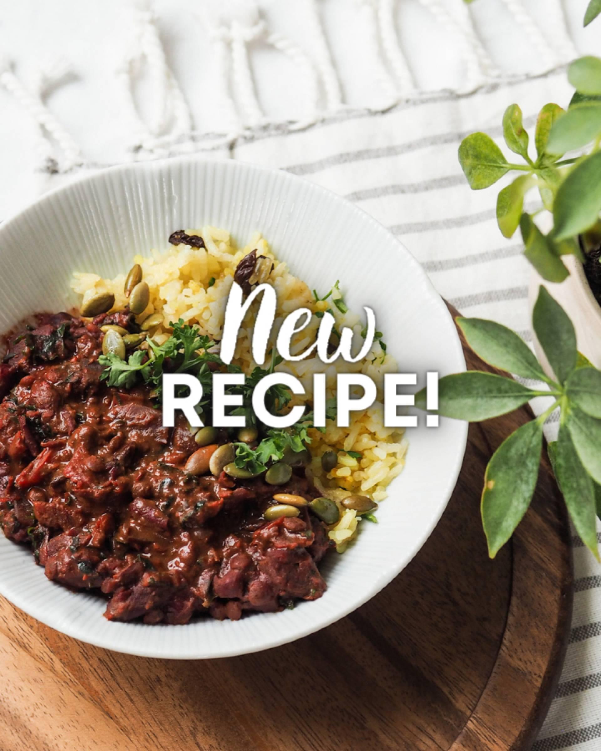 Persian Pomegranate Curry + Tumeric Rice Pilaf